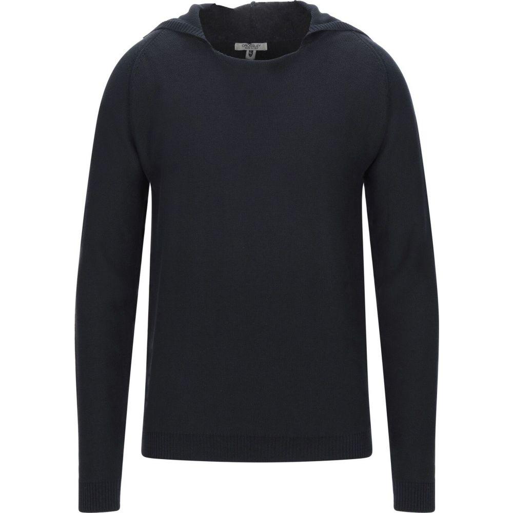 クロスリー メンズ トップス ニット 数量は多 人気の製品 セーター Dark サイズ交換無料 CROSSLEY Sweater blue