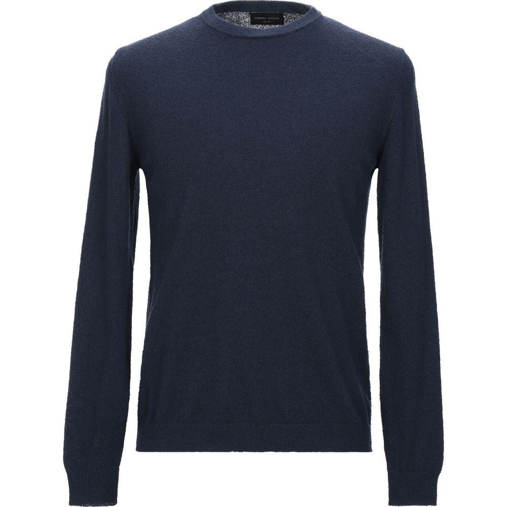 ロベルトコリーナ 35%OFF メンズ トップス ニット セーター Dark COLLINA 供え Sweater ROBERTO サイズ交換無料 blue