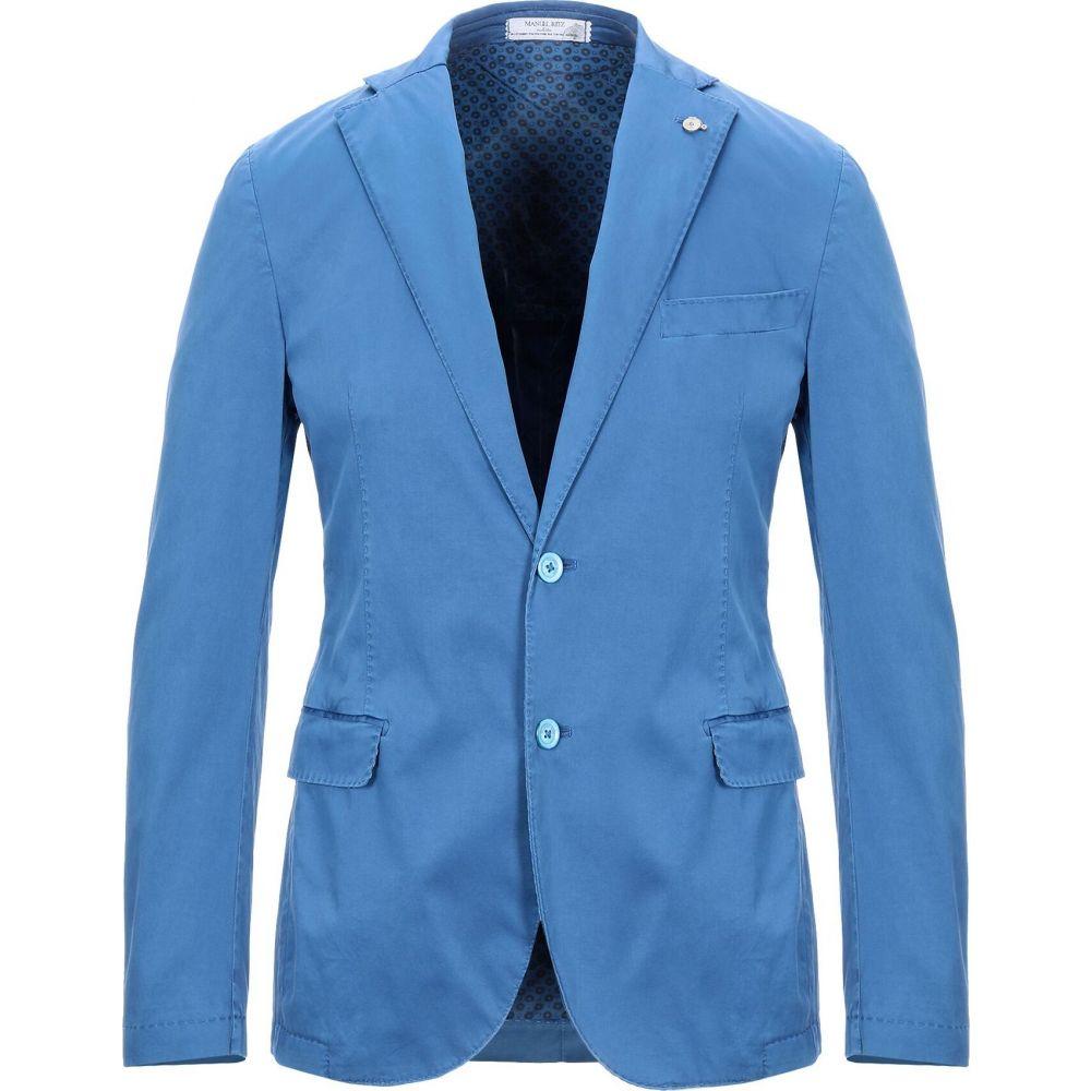 人気ブラドン マニュエル blue リッツ MANUEL MANUEL RITZ メンズ スーツ アウター【Blazer】Pastel・ジャケット アウター【Blazer】Pastel blue, 新品登場:e9aefe27 --- rishitms.com