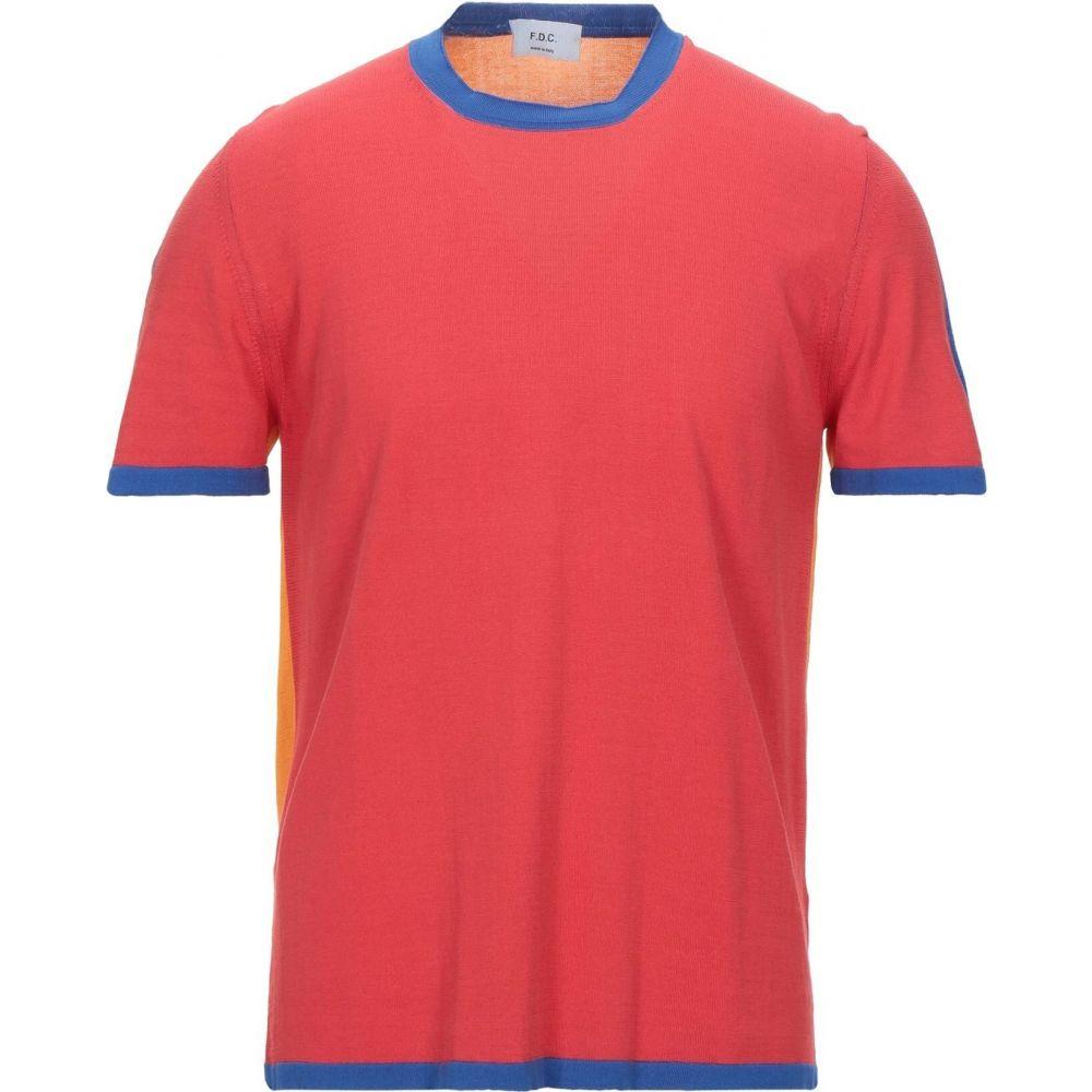 ファブリツィオ デル カルロ メンズ トップス ニット セーター CARLO DEL サイズ交換無料 定番の人気シリーズPOINT ポイント 入荷 本日限定 Sweater Red FABRIZIO