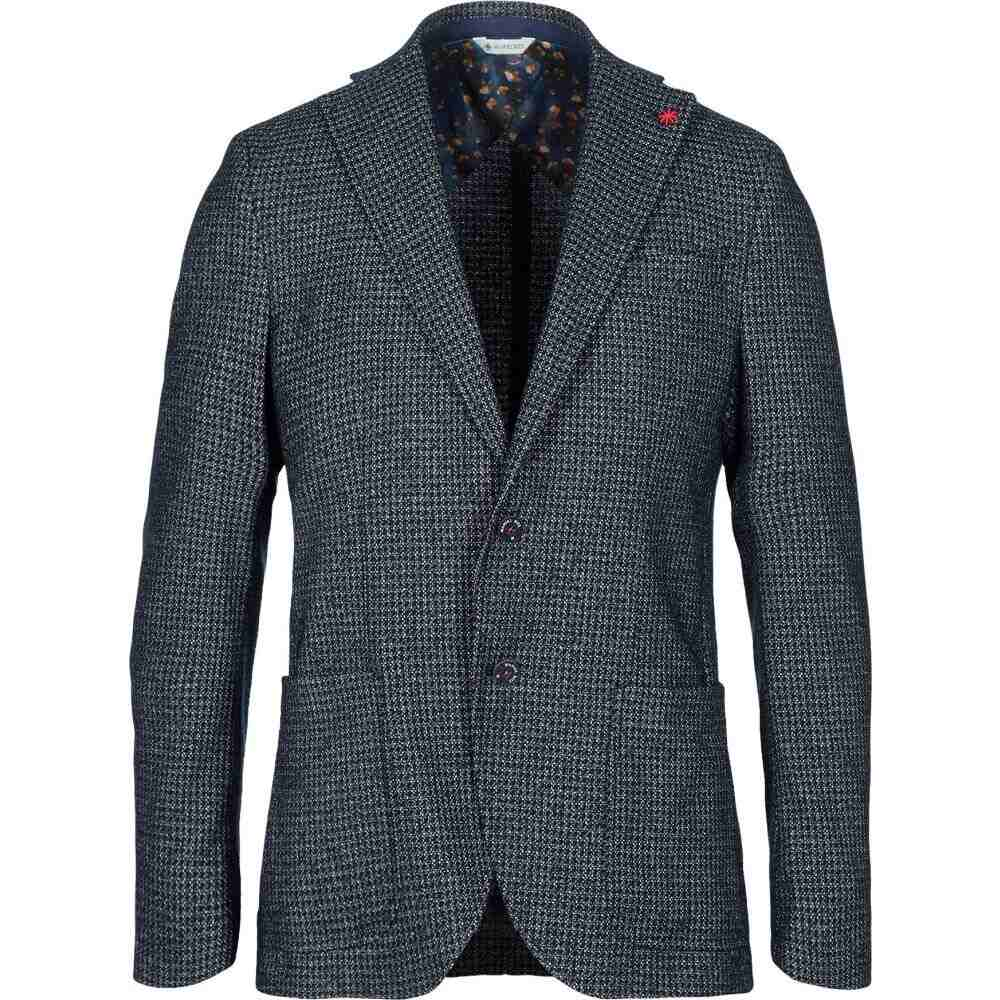 【コンビニ受取対応商品】 マニュエル リッツ MANUEL RITZ メンズ スーツ・ジャケット アウター【Blazer】Dark blue, 南山城村 328876df