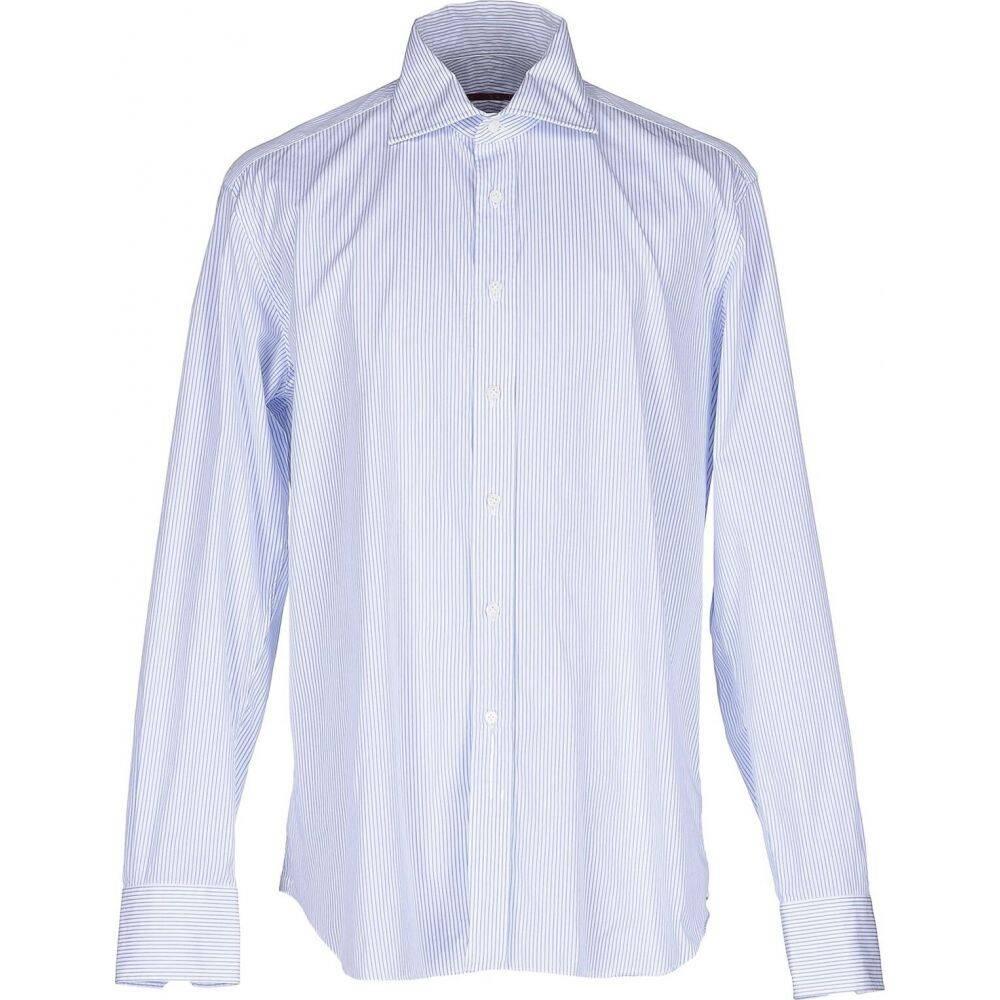 XACUS Shirt】Blue トップス【Striped メンズ ザカス シャツ
