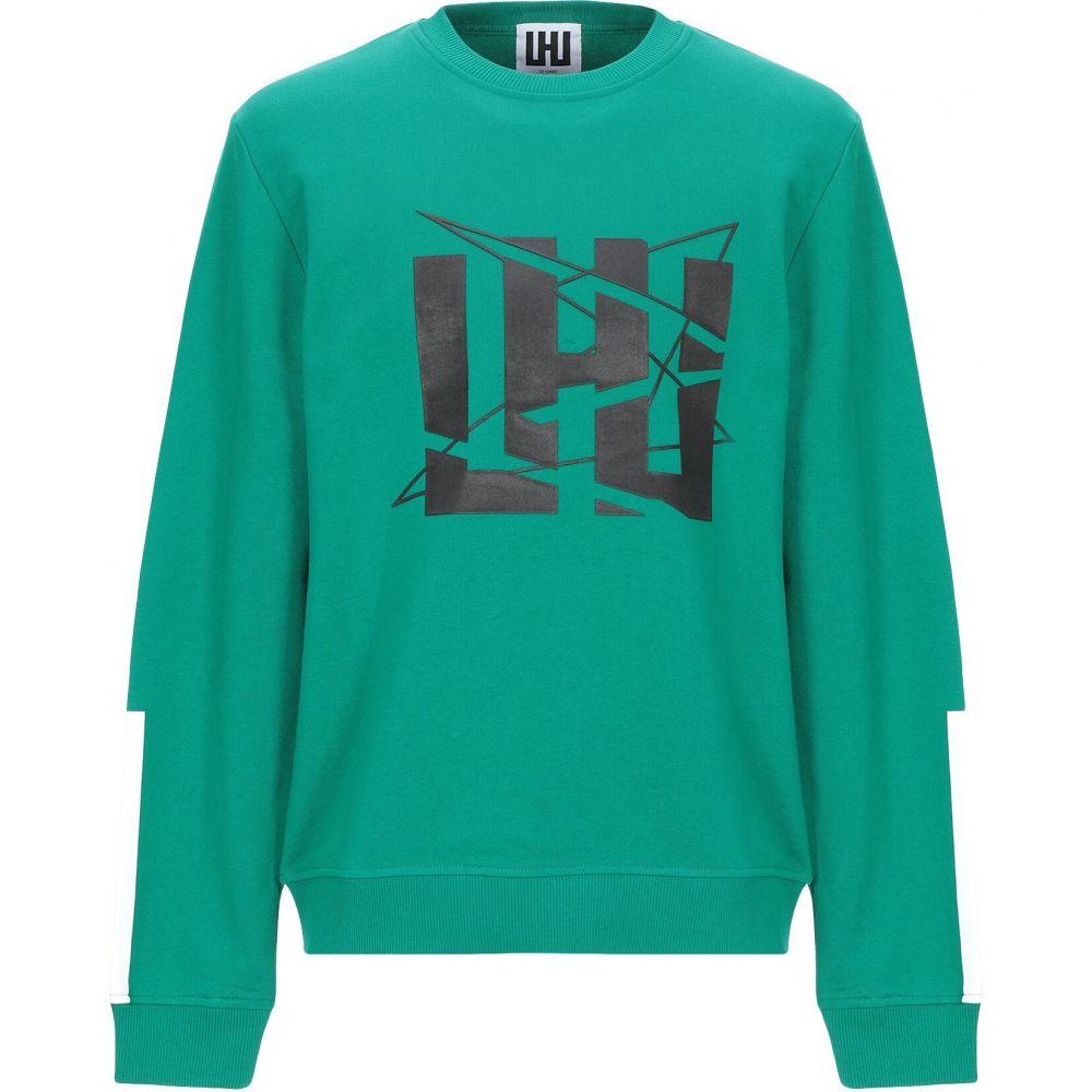 LHU アーバン メンズ トップス スウェット 新作 トレーナー sweatshirt URBAN Emerald green サイズ交換無料 人気
