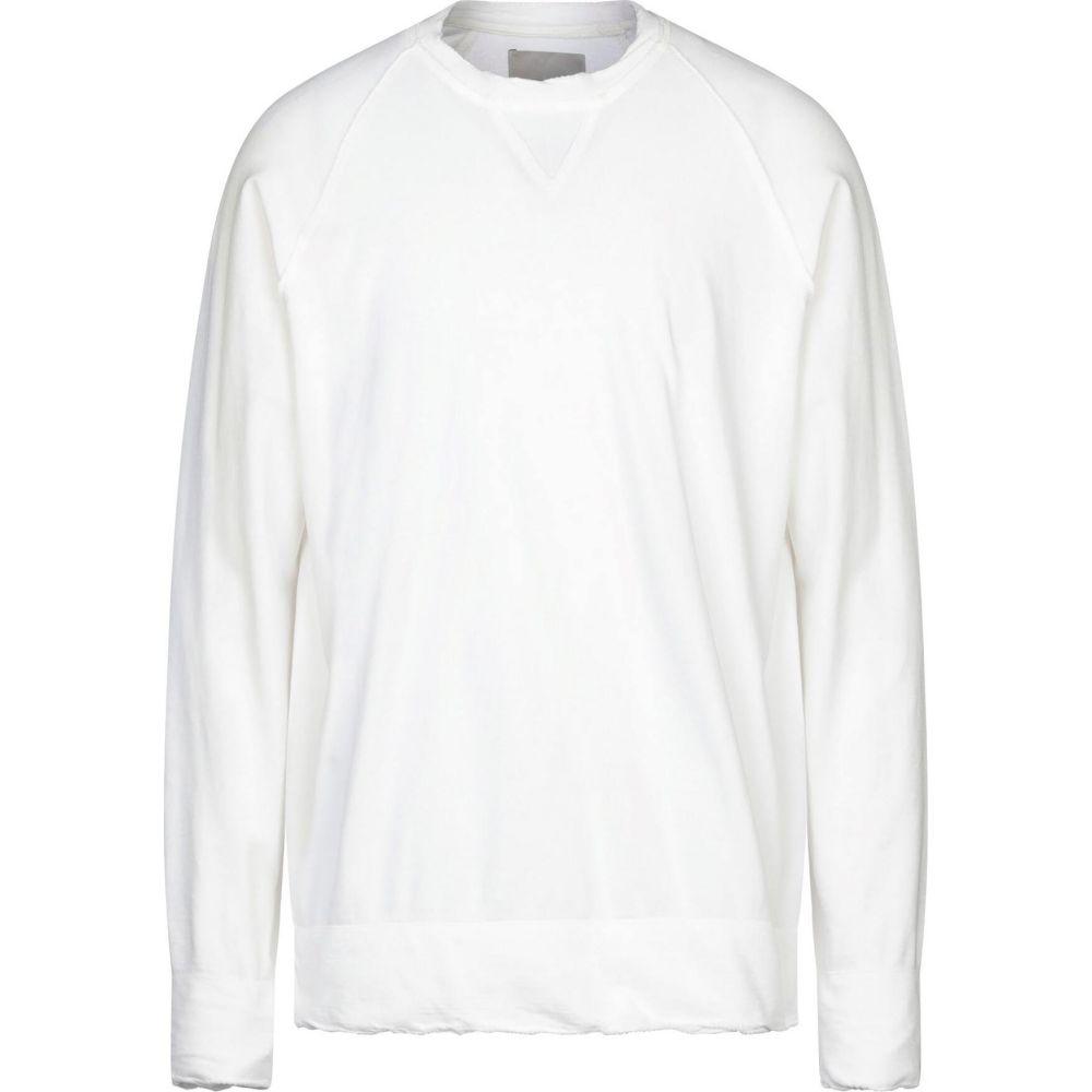 ラネウス LANEUS メンズ スウェット・トレーナー トップス【sweatshirt】White