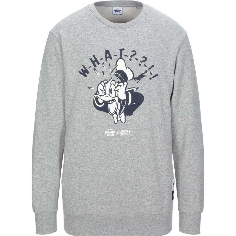 ジャック アンド ジョーンズ メンズ トップス 正規認証品!新規格 スウェット トレーナー sweatshirt grey お気に入 JONES サイズ交換無料 Light JACK