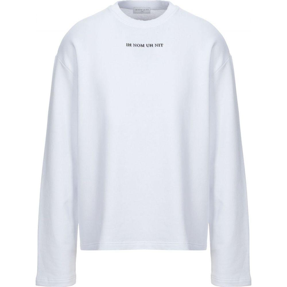 インノミネイト IH NOM UH NIT メンズ スウェット・トレーナー トップス【sweatshirt】White
