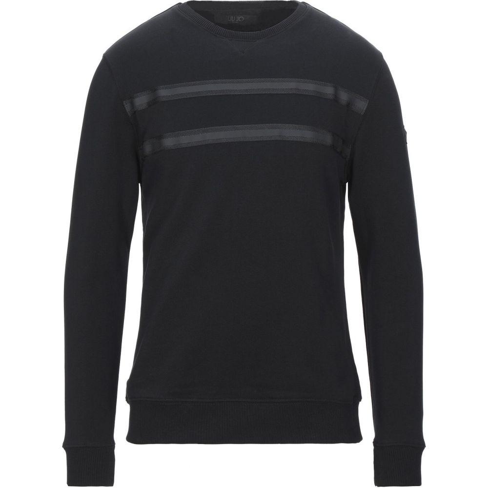 リウジョー LIU JO MAN メンズ スウェット・トレーナー トップス【sweatshirt】Black