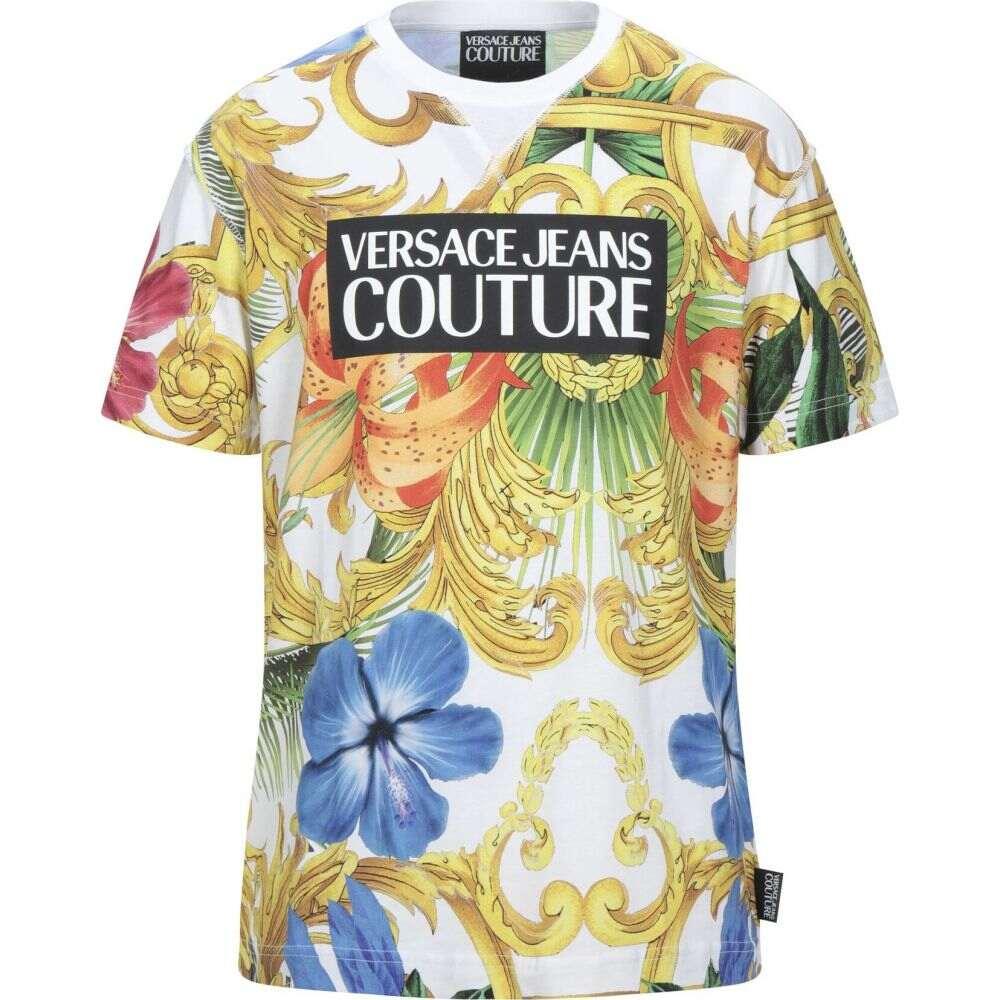 【GINGER掲載商品】 ヴェルサーチ VERSACE JEANS COUTURE メンズ Tシャツ トップス【T-Shirt】White, NetBabyWorld(ネットベビー) f98b712b