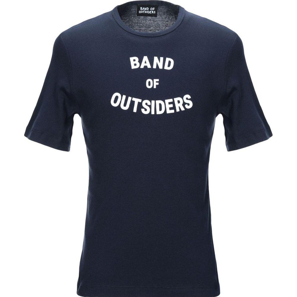 春夏新作モデル バンドオブアウトサイダーズ BAND OF OUTSIDERS メンズ Tシャツ トップス【T-Shirt】Dark blue, アキルノシ 2d89d81d