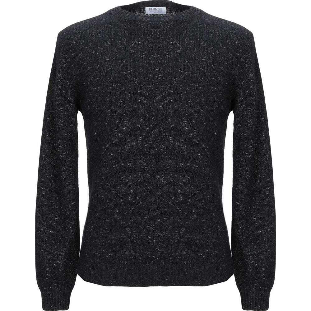 ヘリテイジ 全品送料無料 メンズ トップス ニット セーター Sweater Black 即出荷 HERITAGE サイズ交換無料