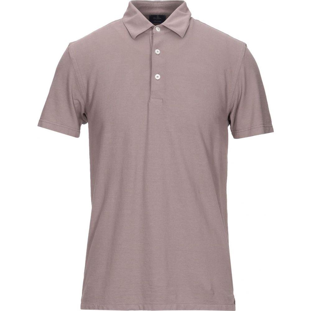 日本に バルバ BARBA Napoli メンズ ポロシャツ トップス【Polo Shirt】Dove grey, わがんせショップ 9cd96f22