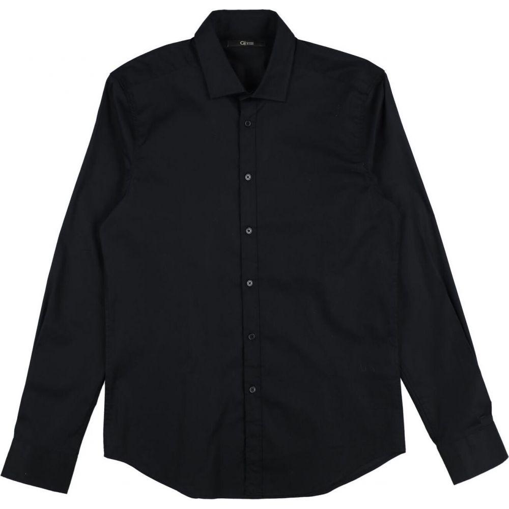 超安い品質 ガウディ GAUDI メンズ シャツ トップス【Solid Color Shirt】Black, 純国産糸魚川翡翠店 a7ab4885