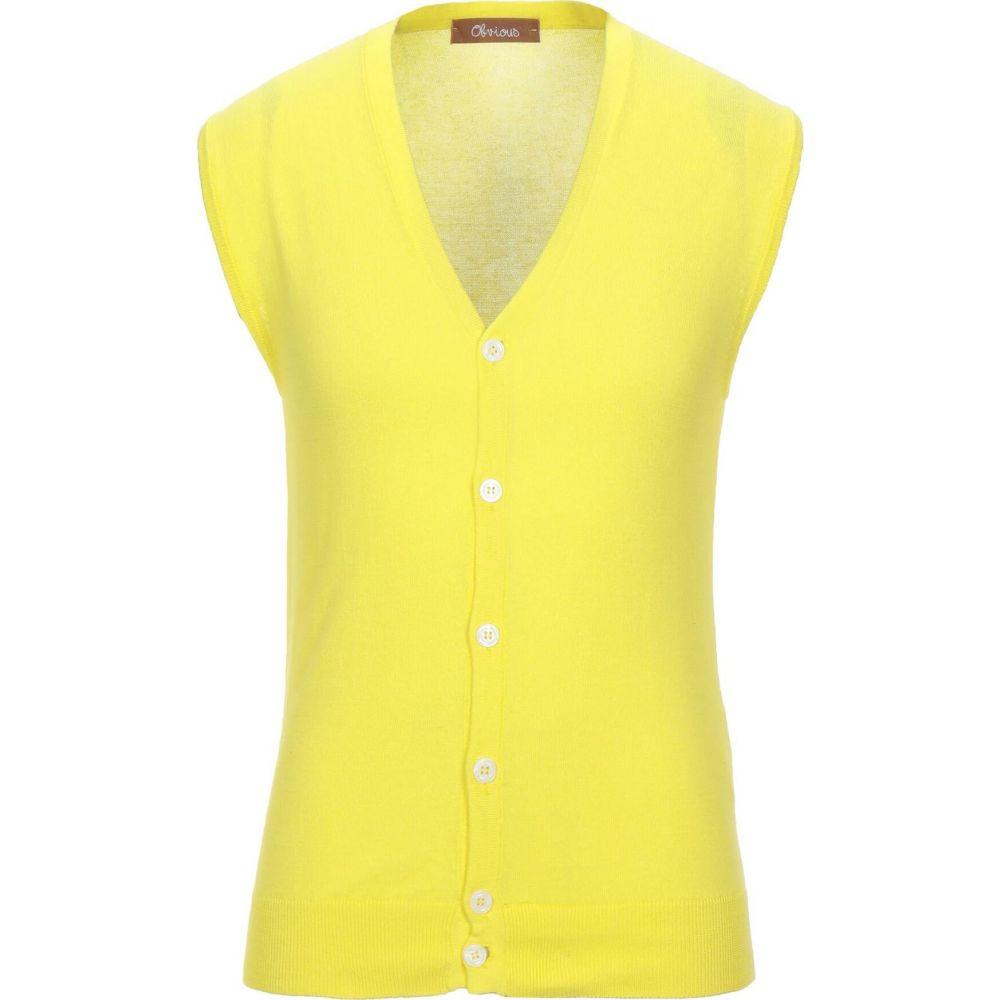 海外 オビオスベーシック メンズ トップス カーディガン 公式ストア Yellow サイズ交換無料 BASIC OBVIOUS Cardigan