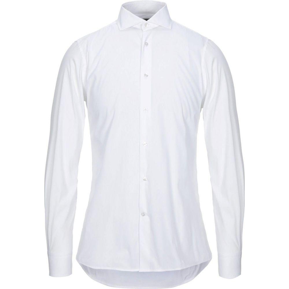 【超お買い得!】 パルジレリ LAB. PAL ZILERI メンズ シャツ トップス【Solid Color Shirt】White, オオシママチ 35cb4fa6