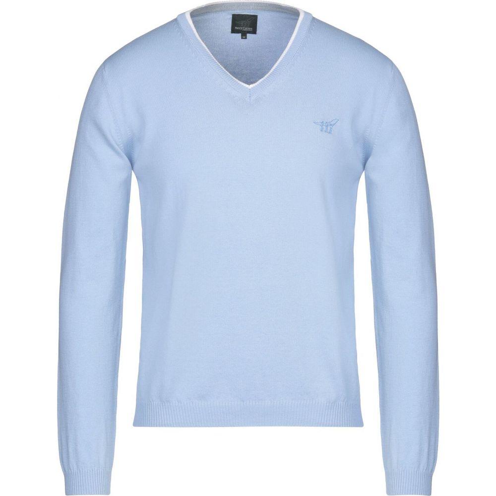 ヘンリーコットンズ メンズ トップス 別倉庫からの配送 ニット セーター 人気 おすすめ Sky HENRY サイズ交換無料 sweater COTTON'S blue