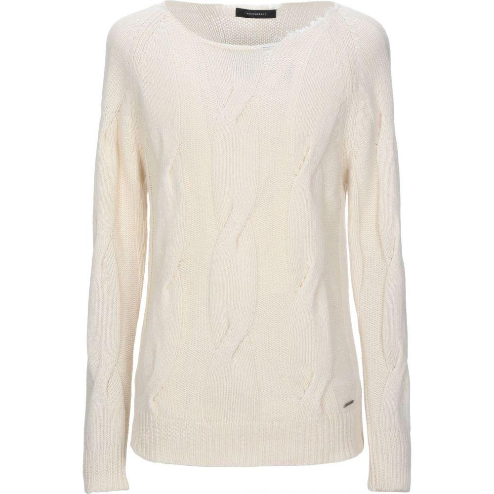 ガッザリーニ メンズ トップス ニット セーター Ivory sweater 割り引き GAZZARRINI サイズ交換無料 定番