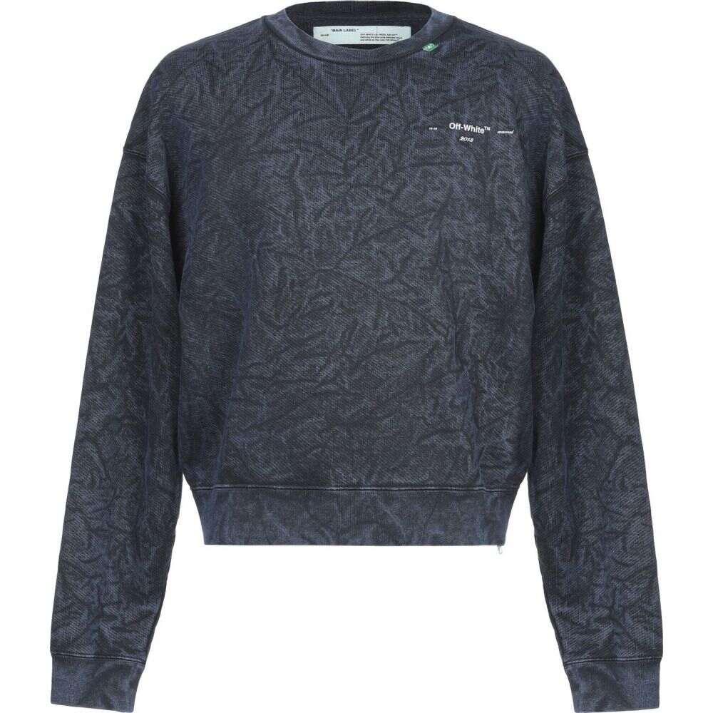 オフホワイト OFF-WHITE' メンズ スウェット・トレーナー トップス【sweatshirt】Dark blue