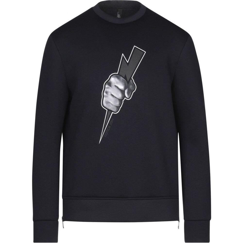 ニール バレット NEIL BARRETT メンズ スウェット・トレーナー トップス【sweatshirt】Dark blue
