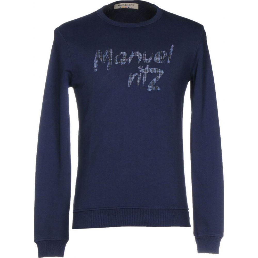 マニュエル リッツ MANUEL RITZ メンズ スウェット・トレーナー トップス【sweatshirt】Dark blue