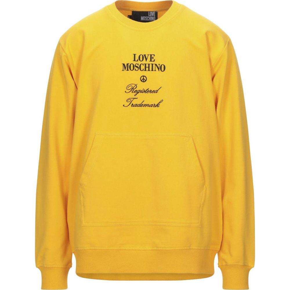 モスキーノ LOVE MOSCHINO メンズ スウェット・トレーナー トップス【sweatshirt】Yellow