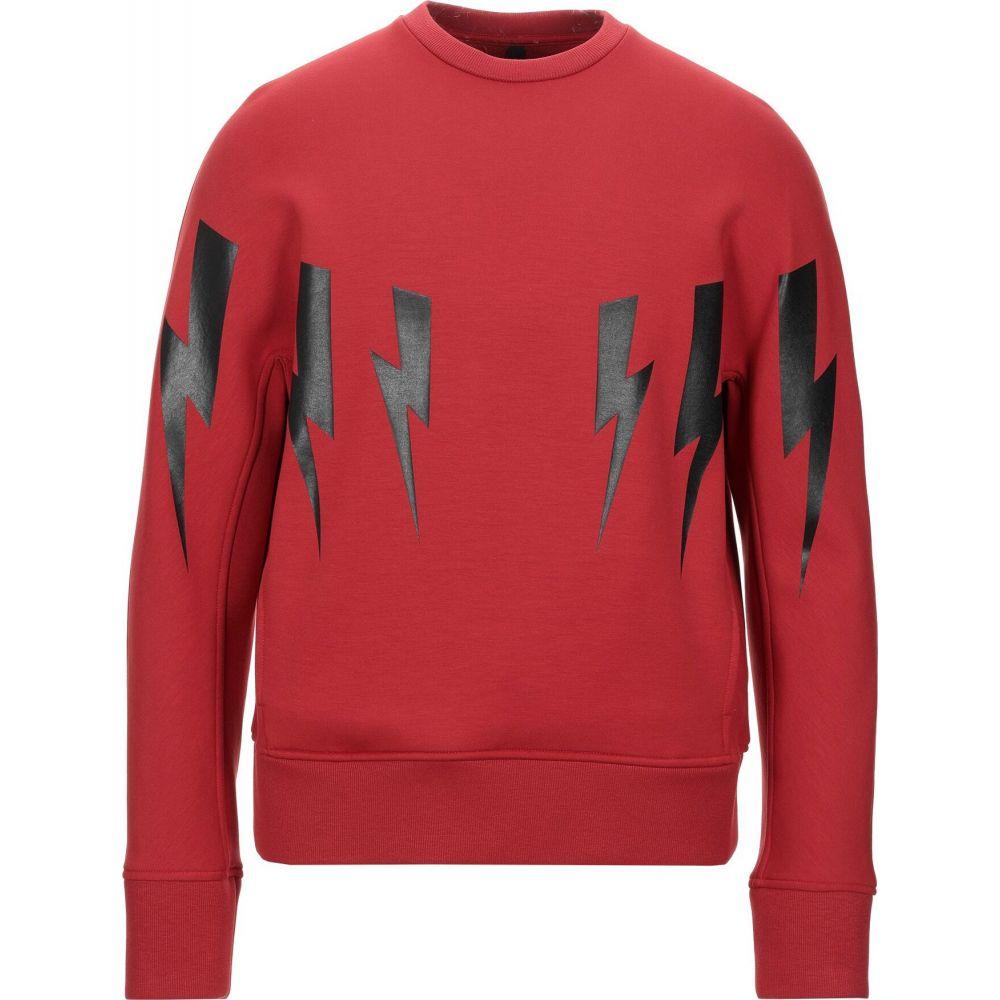 ニール バレット NEIL BARRETT メンズ スウェット・トレーナー トップス【sweatshirt】Red