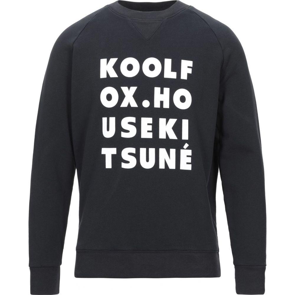 メゾン キツネ MAISON KITSUNE メンズ スウェット・トレーナー トップス【sweatshirt】Black