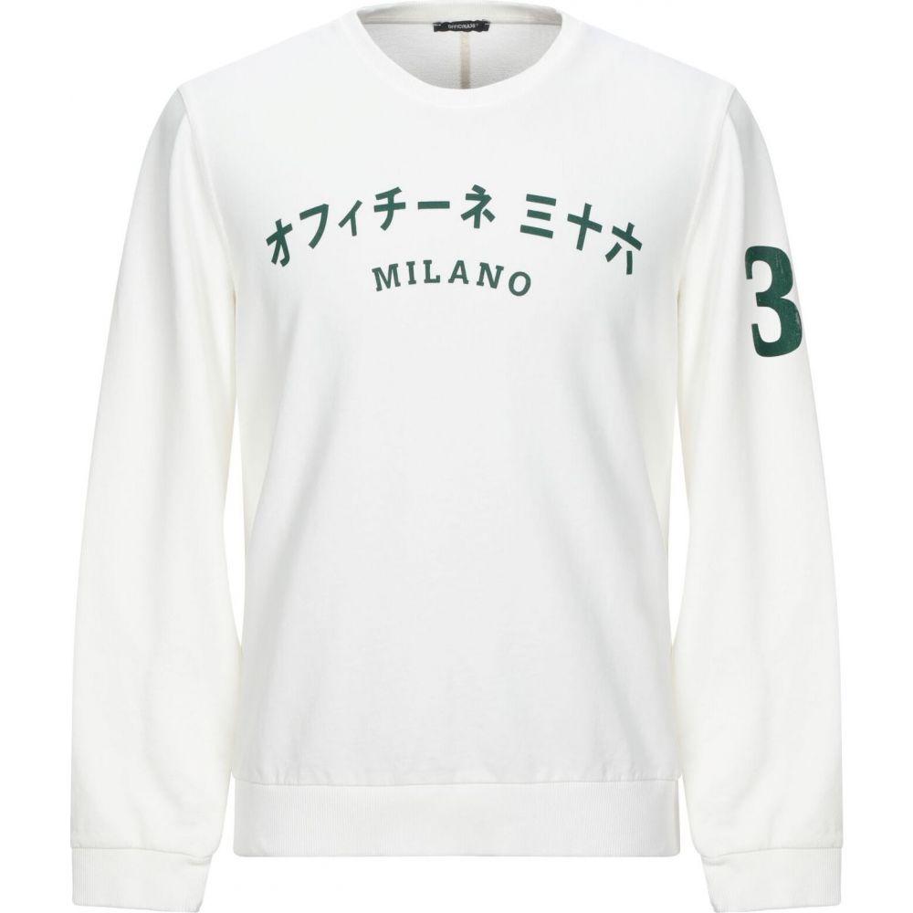 オフィチーナ トレンタ セイ OFFICINA 36 メンズ スウェット・トレーナー トップス【sweatshirt】White