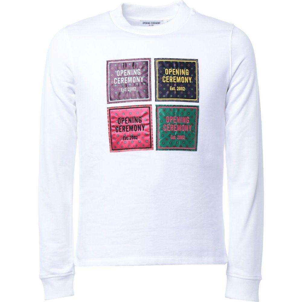 オープニングセレモニー OPENING CEREMONY メンズ スウェット・トレーナー トップス【sweatshirt】White