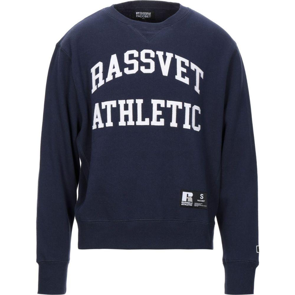 ラスベート PACCBET メンズ スウェット・トレーナー トップス【sweatshirt】Dark blue