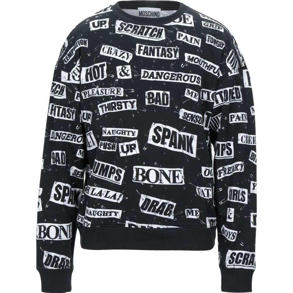 モスキーノ MOSCHINO メンズ スウェット・トレーナー トップス【sweatshirt】Black