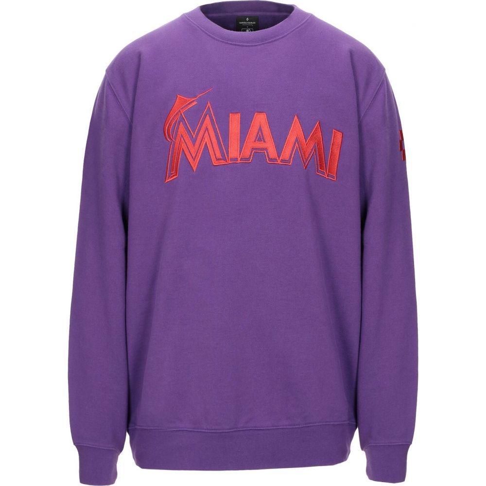マルセロバーロン MARCELO BURLON メンズ スウェット・トレーナー トップス【sweatshirt】Purple