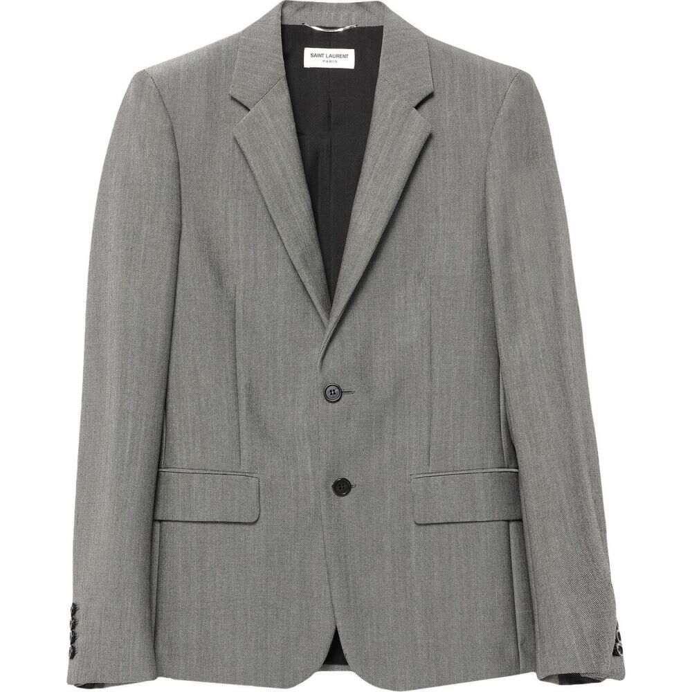 イヴ サンローラン メンズ アウター スーツ 1着でも送料無料 ジャケット 格安店 Grey blazer LAURENT サイズ交換無料 SAINT