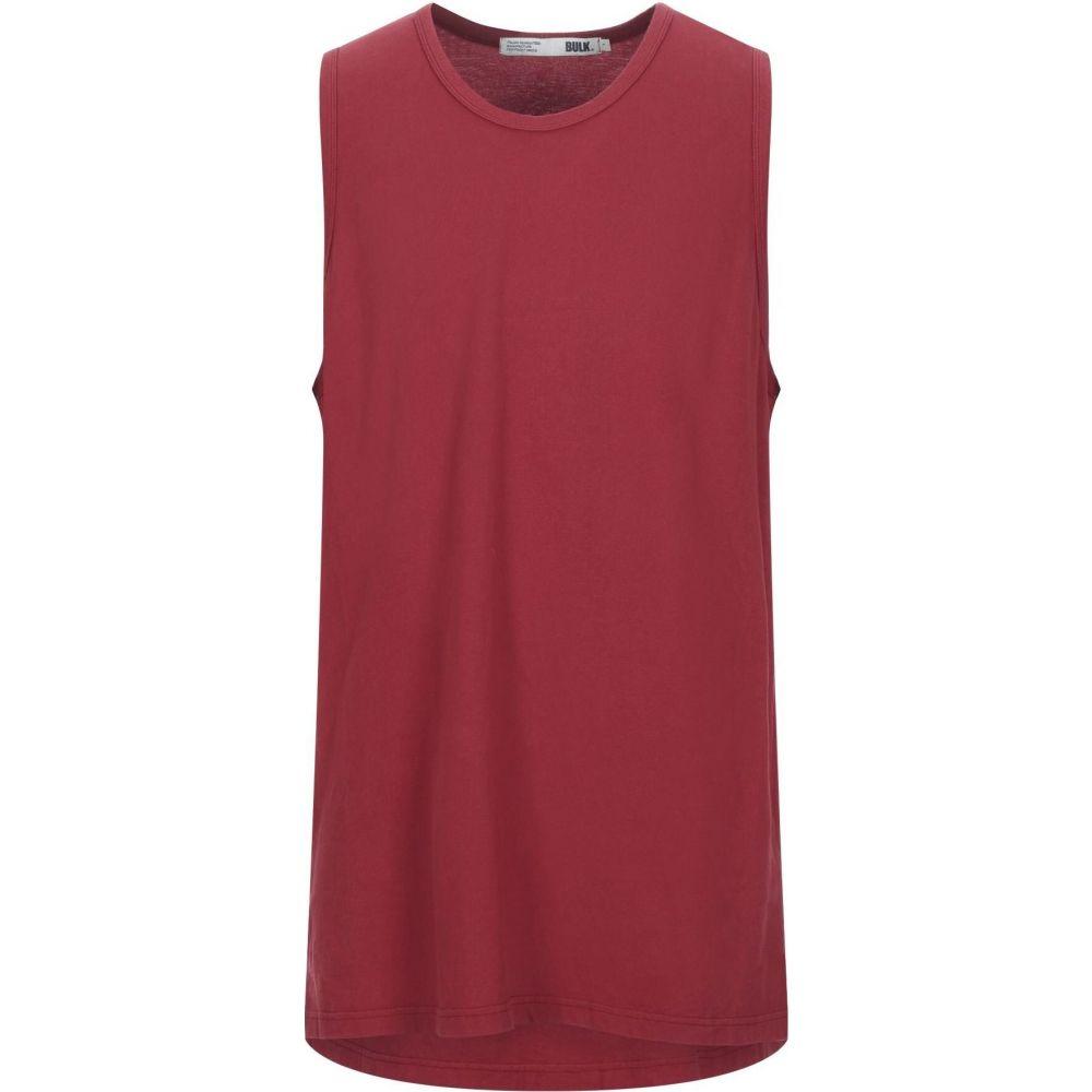 BULK ショップ メンズ ファクトリーアウトレット トップス Tシャツ t-shirt Maroon サイズ交換無料