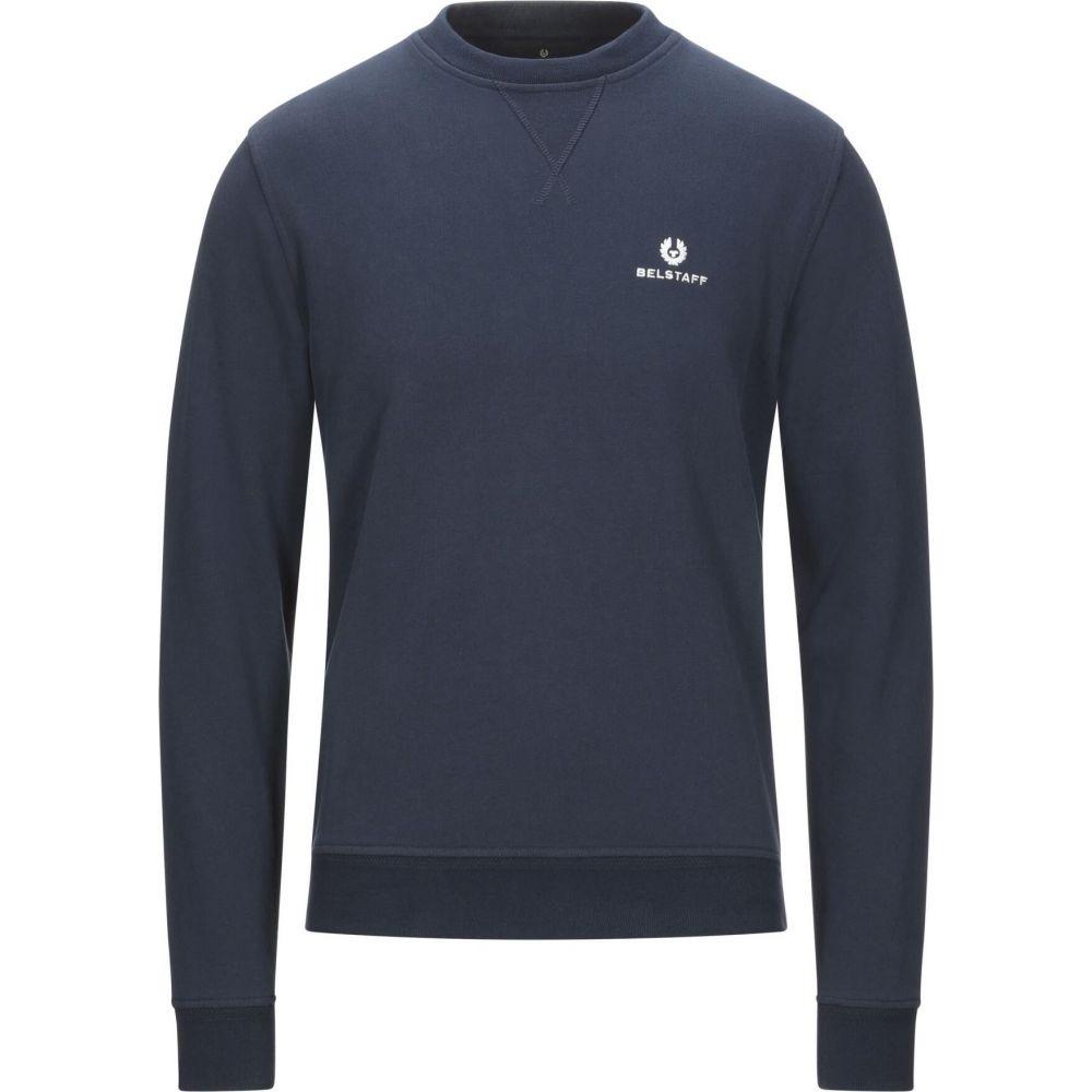 ベルスタッフ メンズ トップス スウェット トレーナー Dark BELSTAFF サイズ交換無料 blue sweatshirt 絶品 OUTLET SALE