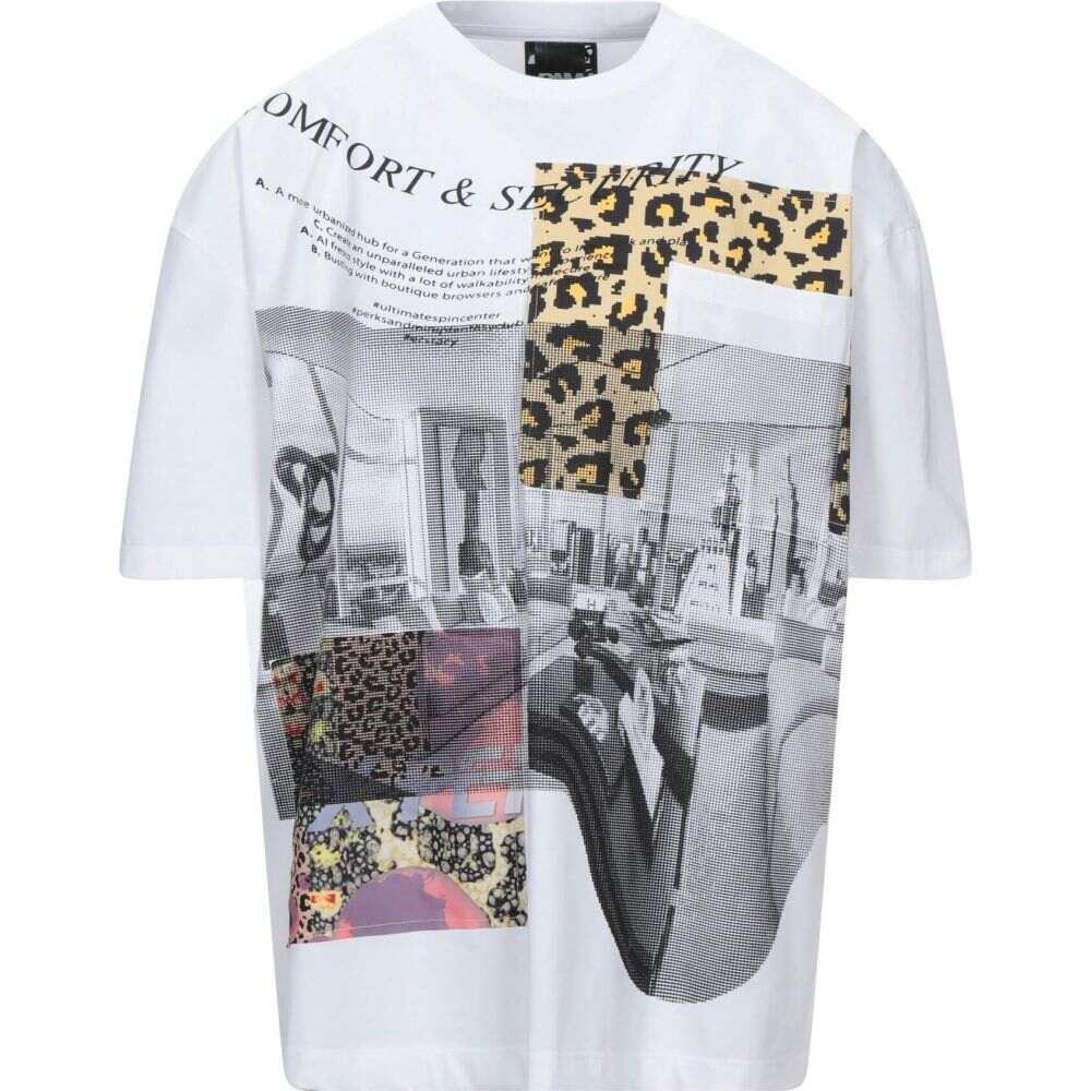 パム パークス アンド ミニ メンズ トップス Tシャツ t-shirt 日本最大級の品揃え 安い MINI PERKS P.A.M. White AND サイズ交換無料