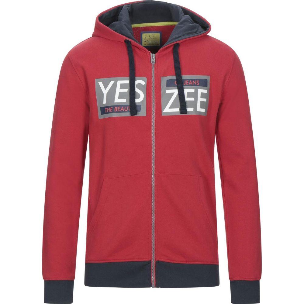 イエスズィー 国内正規品 バイ エッセンツァ メンズ トップス スウェット トレーナー Red by サイズ交換無料 注文後の変更キャンセル返品 sweatshirt YES ZEE ESSENZA hooded