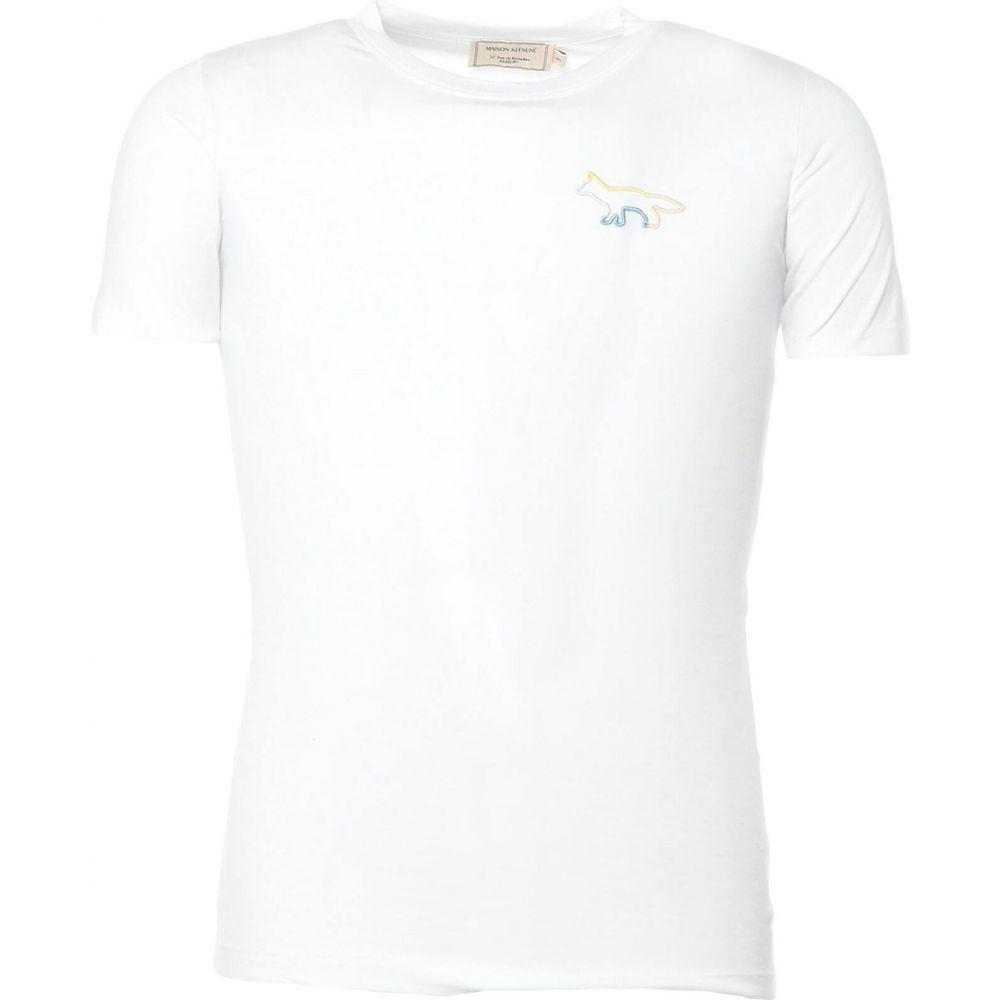 メゾン キツネ 信頼 おトク メンズ トップス Tシャツ MAISON サイズ交換無料 White KITSUNE t-shirt