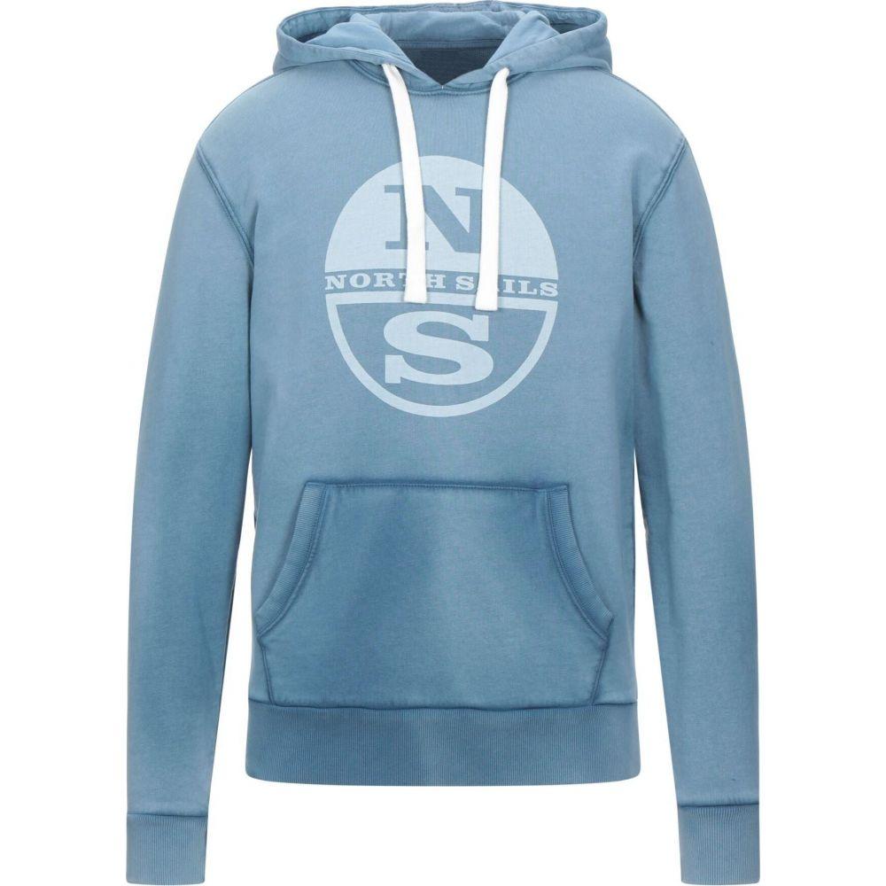 ノースセール メンズ トップス 公式サイト スウェット トレーナー Slate blue NORTH サイズ交換無料 sweatshirt 完全送料無料 SAILS