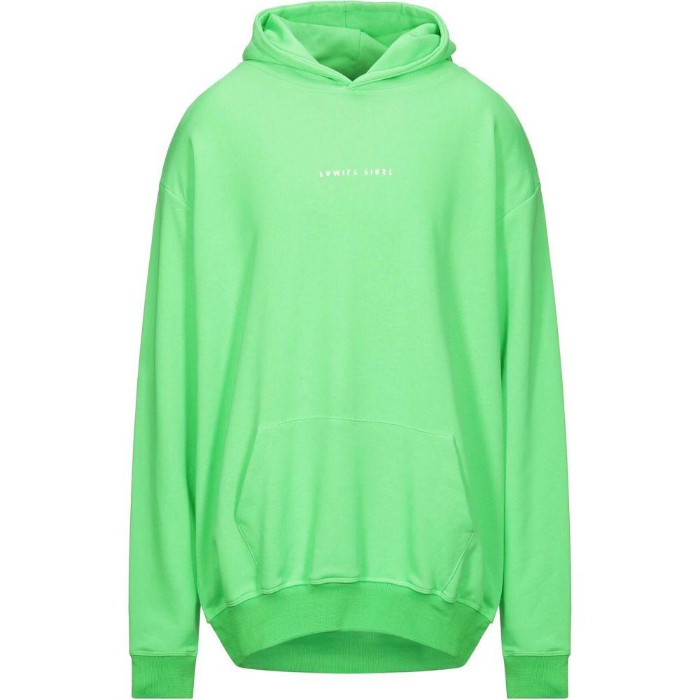 ファミリーファーストミラノ メンズ トップス スウェット お中元 トレーナー 海外並行輸入正規品 Acid green FIRST FAMILY サイズ交換無料 Milano sweatshirt hooded