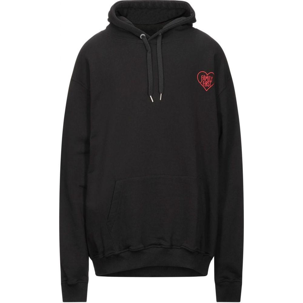 即納最大半額 ファミリーファーストミラノ メンズ トップス 限定価格セール スウェット トレーナー Black FAMILY hooded sweatshirt Milano サイズ交換無料 FIRST
