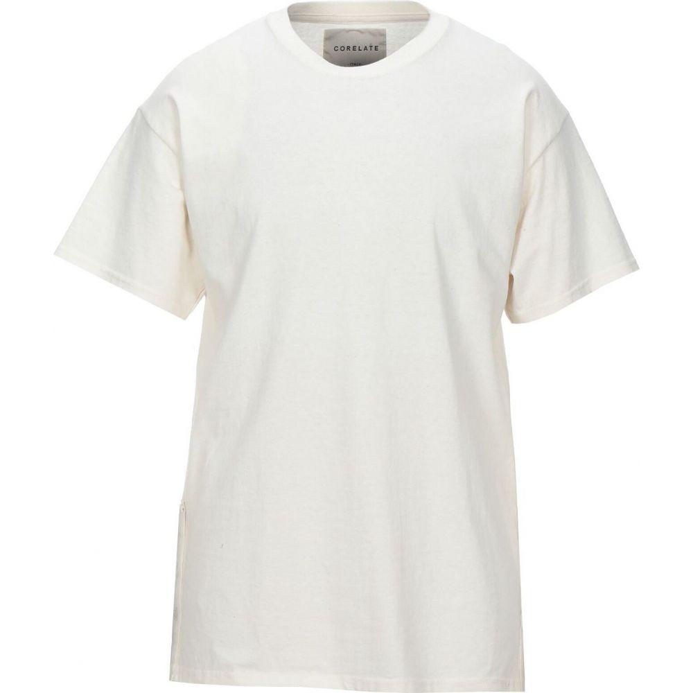 2020 コラレート メンズ トップス Tシャツ t-shirt CORELATE Ivory サイズ交換無料 日本