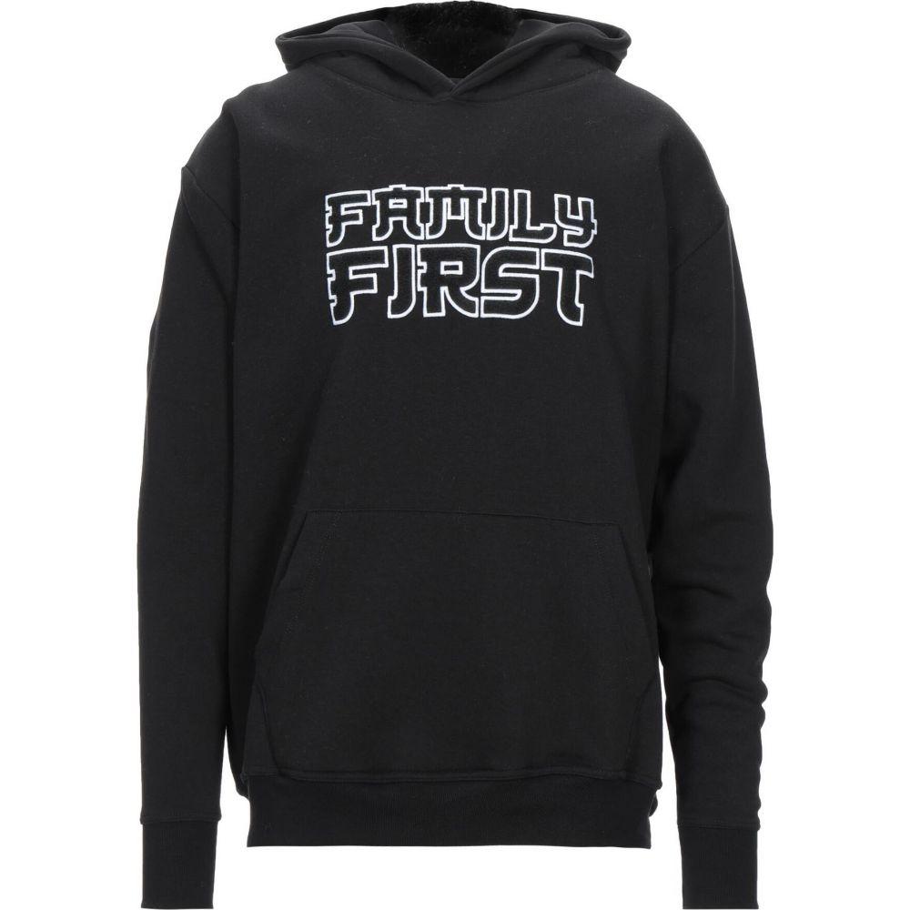 ファミリーファーストミラノ メンズ トップス 本日の目玉 スウェット !超美品再入荷品質至上! トレーナー Black hooded sweatshirt サイズ交換無料 Milano FAMILY FIRST