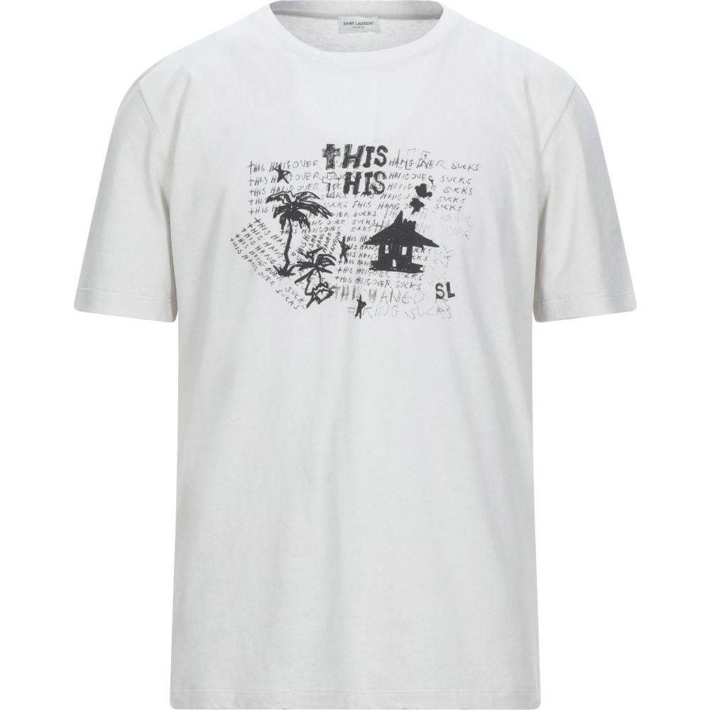 イヴ サンローラン SAINT LAURENT メンズ Tシャツ トップス【t-shirt】Light grey