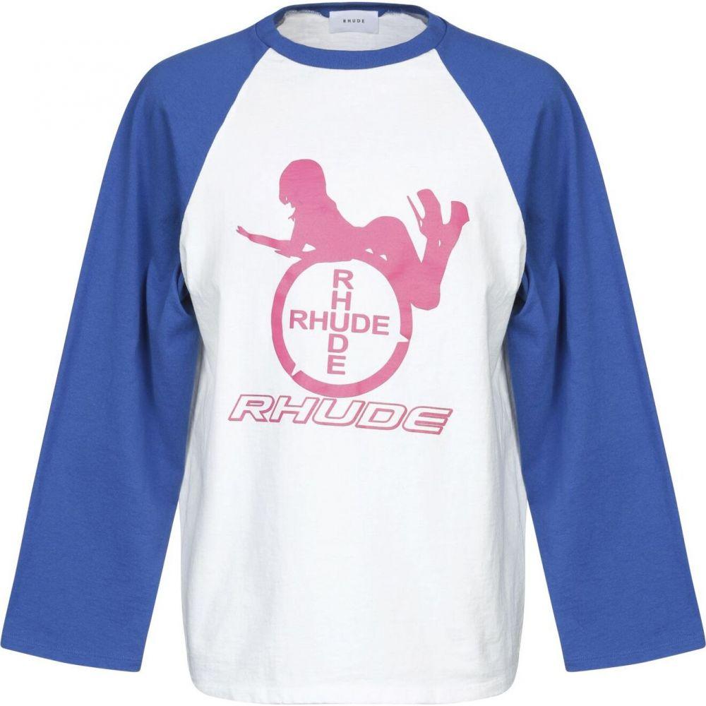 ルード RHUDE メンズ Tシャツ トップス【t-shirt】White