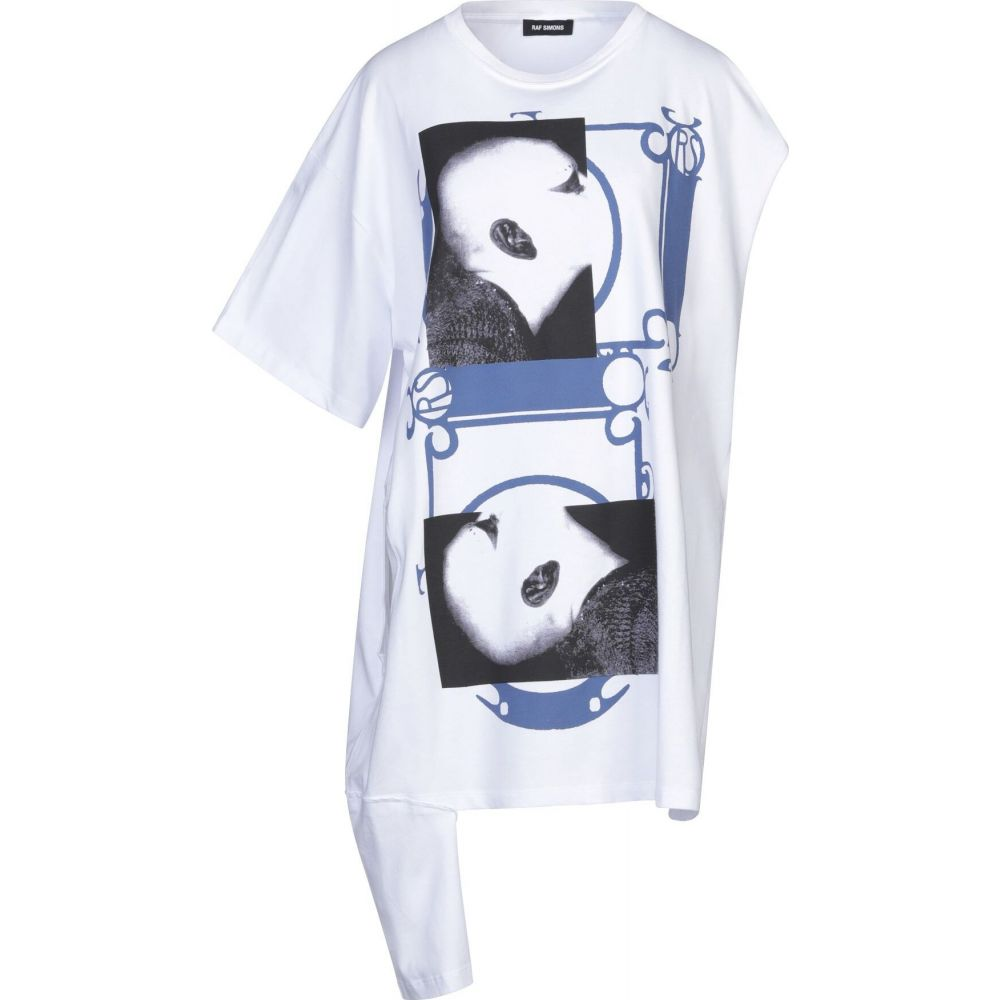 ラフ シモンズ RAF SIMONS メンズ Tシャツ トップス【t-shirt】White