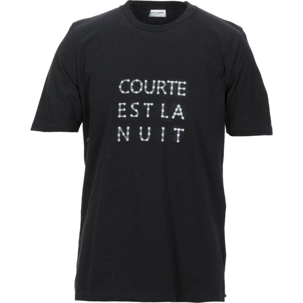 イヴ サンローラン SAINT LAURENT メンズ Tシャツ トップス【t-shirt】Black