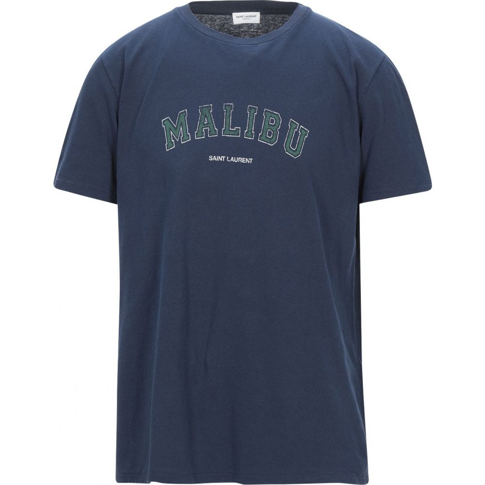 イヴ サンローラン SAINT LAURENT メンズ Tシャツ トップス【t-shirt】Blue