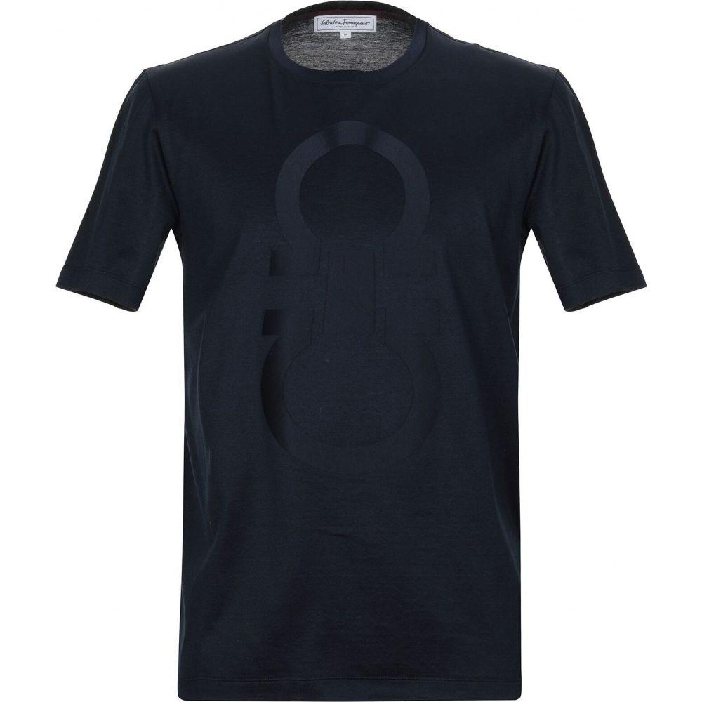 サルヴァトーレ フェラガモ SALVATORE FERRAGAMO メンズ Tシャツ トップス【t-shirt】Dark blue