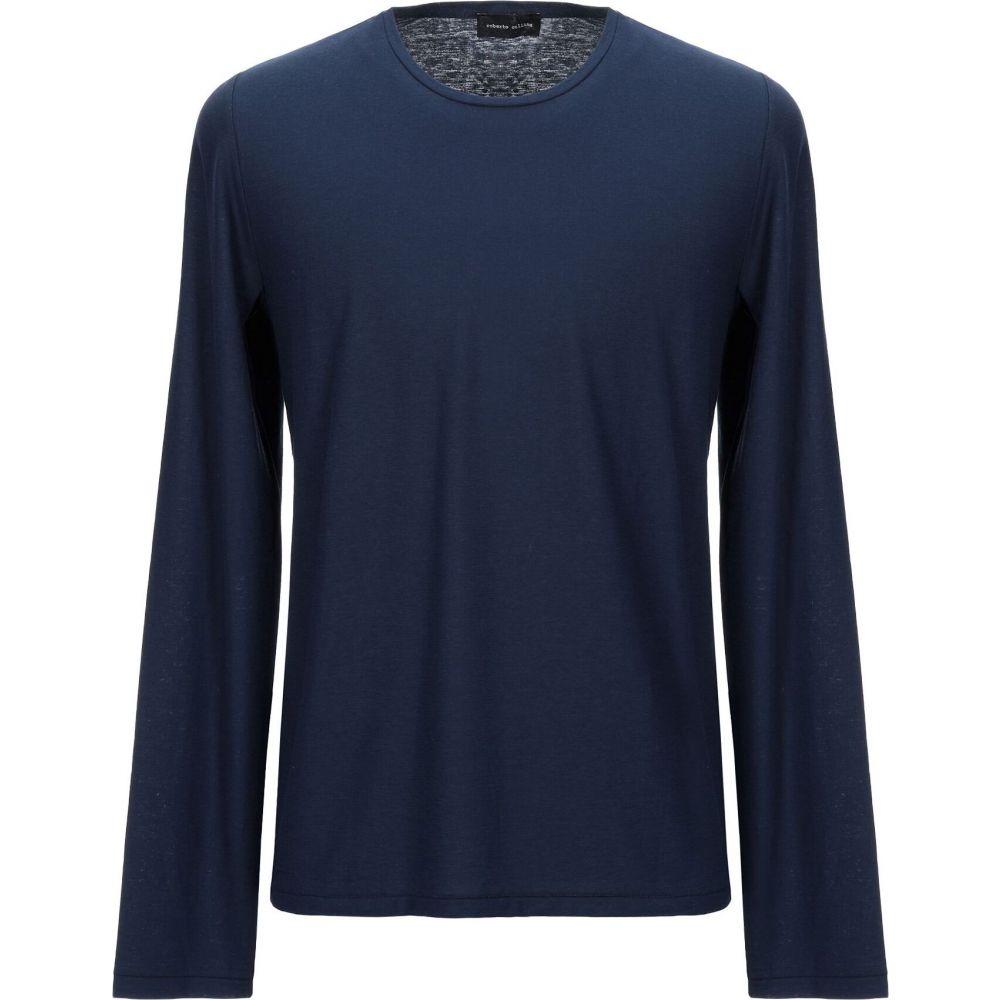 ロベルトコリーナ ROBERTO COLLINA メンズ Tシャツ トップス【t-shirt】Dark blue