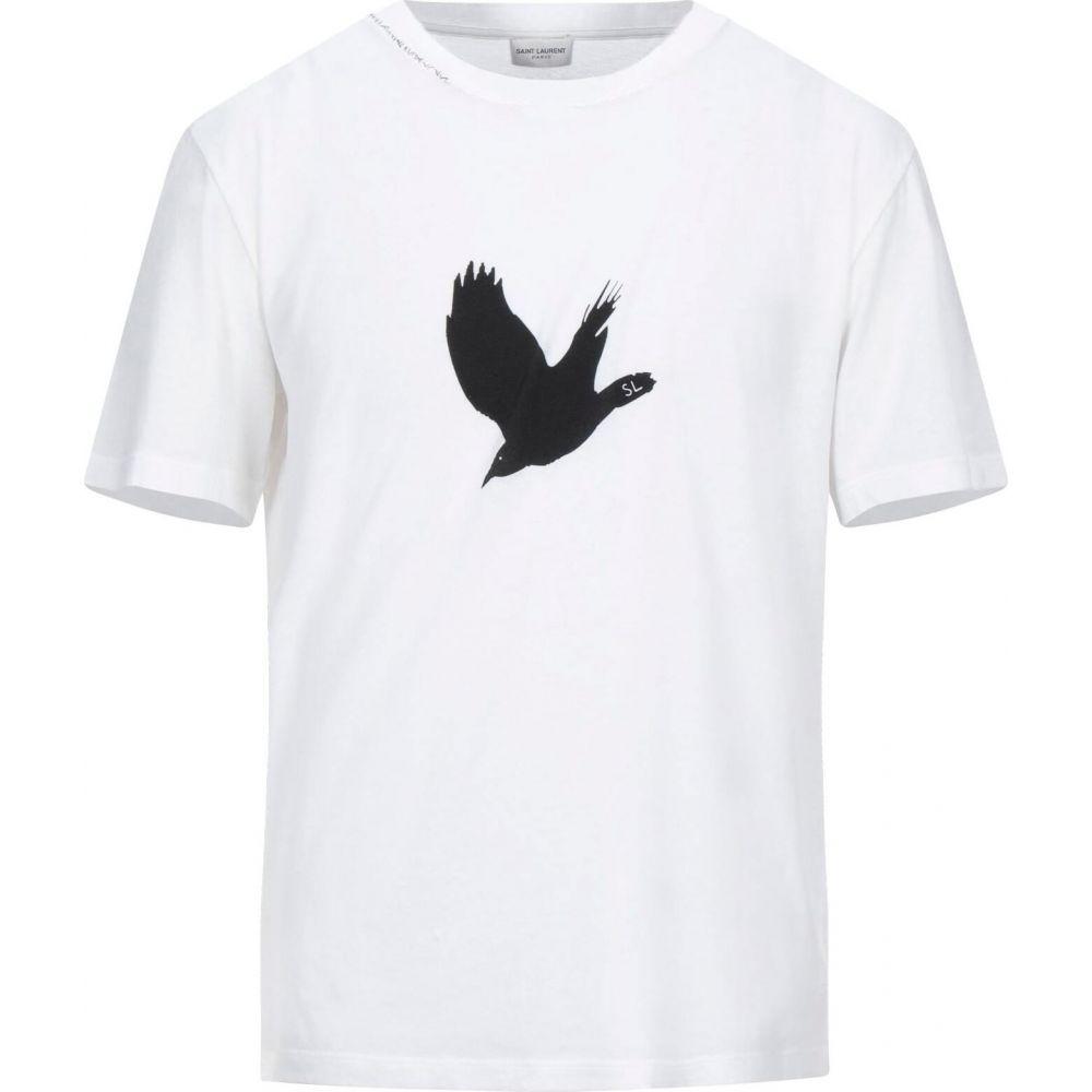 イヴ サンローラン SAINT LAURENT メンズ Tシャツ トップス【t-shirt】White